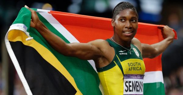 FILE - In this Aug. 11, 2012 file photo, South Africa's Caster Semenya reacts after finishing in second place in the women's 800-meter final at the 2012 Summer Olympics in London.  It seems the sports world just doesn't know what to do with an athlete like Semenya. The South African runner, and others like her, may present one of the greatest dilemmas for the perception of fairness in sports. Semenya, now 25,  is the favorite for gold at the Rio Olympics, Semenya has been pursued by gender questions. But her case has never been about a man masquerading as a woman.  (AP Photo/Gregorio Borgia, File)(AP Photo/Anja Niedringhaus, File)